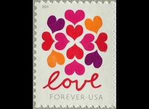 USA Amerika 2019 Michel Nr.5559 Grußmarke Love Herzmotiv