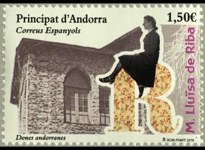 Andorra spanisch 2019 Nr. 478 Andorranische Frauen Maria Lluïsa de Riba Cassany