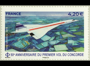 "Frankreich France 2019 Nr. 7274 50. Jahrestag des Erstfluges der ""Concorde"""