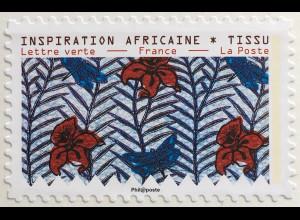 Frankreich France 2019 Neuheit Inspriation Afrika Blumendekomuster
