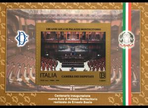 Italien Italy 2018 Bl. 80 Eröffnung des Plenarsaals Palazzo Montecitorio in Rom