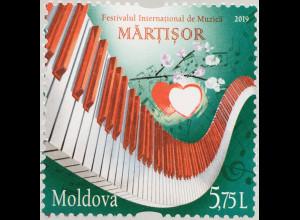 Moldawien Moldova 2019 Neuheit Internationales Musikfestival Musikfestival Herz