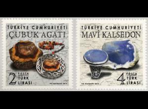 Türkei Turkey 2018 Neuheit Mineralien Cubuk Agati & Mavi Kalsedon