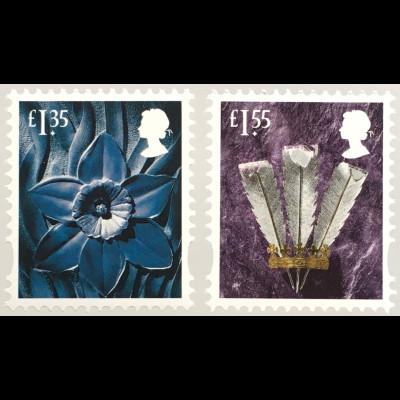 Großbritannien 2019 Regionalmarke Wales Neuheiten Landeswahrzeichen