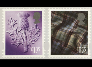 Großbritannien 2019 Regionalmarke Schottland Neuheiten Landeswahrzeichen