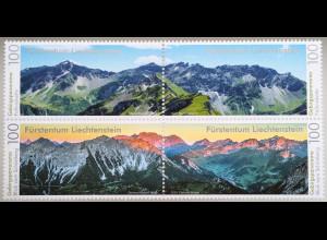 Liechtenstein 2019 Neuheit Gebirgspanoramen Bergsommer und Sonnenaufgang