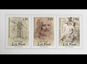 Liechtenstein 2019 Block 32 500. Todestag Leonardo da Vinci Universalgenie