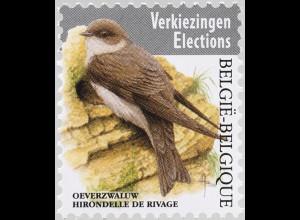 Belgien 2019 Neuheit Freimarken Vögel Bartmeise Uferschwalbe Vögel Fauna