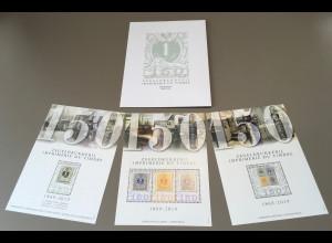 Belgien 2019 Neuheit 150 Jahre Briefmarkendruck Historische Briefmarken