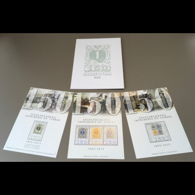 Belgien 2019 Nr. 4889-93 150 Jahre Briefmarkendruck Historische Briefmarken