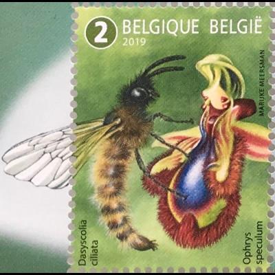 Belgien 2019 Nr 4894-98 Außergewöhnliche Bestäuber Tierarten Fauna Schmetterling