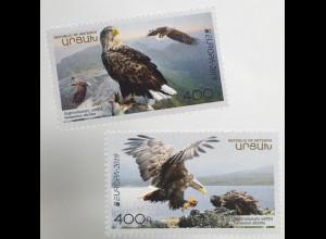 Berg Karabach Nagorno 2019 Neuheit Europaausgabe Einheimische Vogelarten