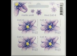 Estland EESTI 2019 Nr. 951 Freimarke Leberblümchen Flora Laubblätter