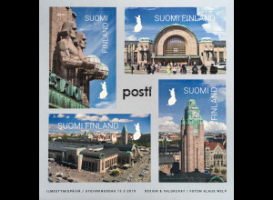 Finnland Finland 2019 Block 100 100 Jahre Hauptbahnhof Helsinki Bahnhof Verkehr