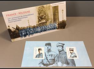 Frankreich France 2019 Block 429 100 J. diplomatische Beziehungen mit Polen