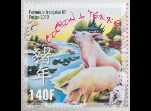 Polynesien französisch 2019 Nr. 1401 Chinesisches Horoskop Jahr des Schweins