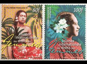 Polynesien französisch 2019 Nr. 1402-03 Frauenrechte Emanzipation Human Rights
