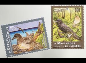 Polynesien französisch 2018 Nr. 1399-1400 Gefährdete Arten Vögel Vogelschutz