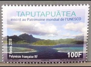 Polynesien französisch 2018 Nr. 1398 Taputapuatea Insellandschaften