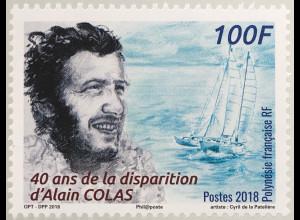 Polynesien französisch 2018 Nr. 1389 Alain Colas französischer Skipper Segler
