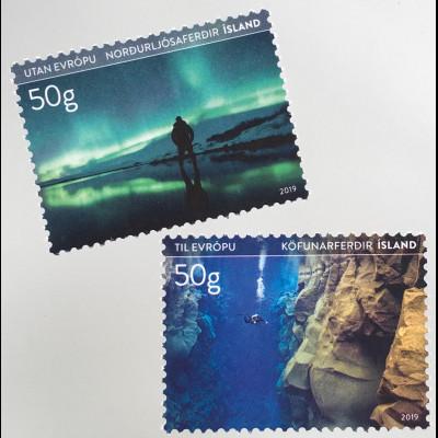 Island Iceland 2019 Nr. 1583-84 Tourismus Reiseziele Natur Landschaften
