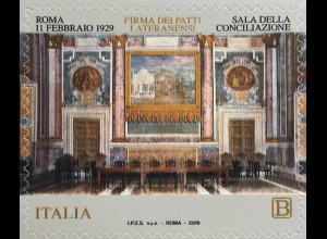 Italien Italy 2019 Neuheit Unterzeichnung der Lateranpakete PA mit Vatikan