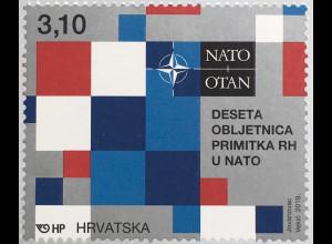 Kroatien Croatia 2019 Nr. 1371 10 Jahre in der Nato