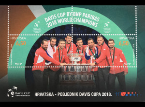 Kroatien Croatia 2019 Block 74 Davis Cup Gewinner Herrentennis Ballsport