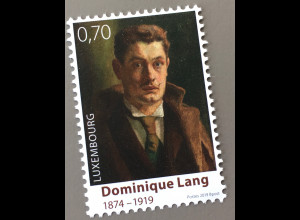 Luxemburg 2019 Neuheit 100 Todestag Dominique Lang Maler Impressionist Kunst