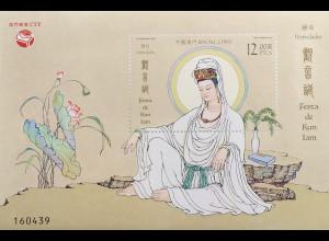 China Macau Macao 2019 Block 280 Kun Lam Festival Religiöses Fest Buddha Block