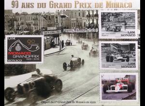 """Monako Monaco 2019 Block 129 90 Jahre Formel-1-Rennen """"Großer Preis von Monaco"""""""