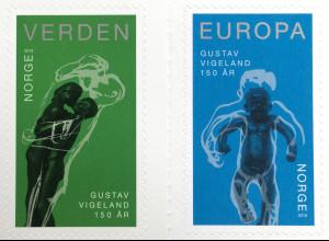 Norwegen 2019 Neuheit 150. Geburtstag von Gustav Vigeland Kunst Kultur Handwerk