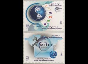 Palästina State of Palestine 2018 Neuheit Telekommunikationstag Postverkehr