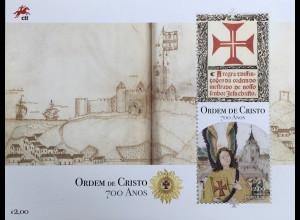 Portugal 2019 Block 442 700 Jahre der Gründung des Ordens der Christusritter