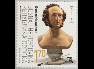 Bosnien Herzegowina Serbische Republik 2019 Neuheit Mendelssohn Bartholdy Musik