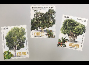 Zypern griechisch Cyprus 2019 Nr. 1404-06 Hunderjährige Bäume Flora