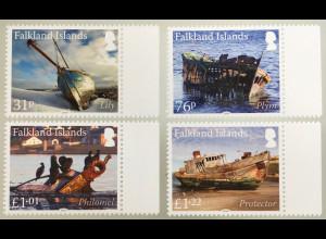 Falkland Inseln 2019 Michel Nr. 1390-93 Schiffswracks Schiffsverkehr