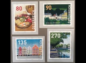 Österreich 2019 Nr. 21-24 Dispenser Seepromenade Schärding Schloss Moosham