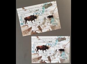 Bulgarien 2018 Block 461 Ausgestorbene Tierarten Aueroche Blockausgaben