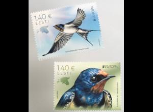 Estland EESTI 2019 Nr. 953-54 Europaausgabe Einheimische Vögel Rauchschwalbe