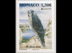 Monako Monaco 2019 Neuheit Einheimische Vogelarten Falke Ornithologie