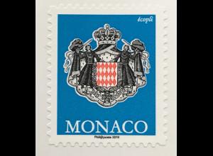 Monako Monaco 2019 Neuheit Wappen Ecopoli Freimarkenserie