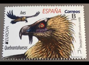 Spanien España 2019 Neuheit Europaausgabe Einheimische Vogelarten Geier