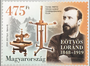 Ungarn Hungary 2019 Nr. 6033 Eotvos Lorand Physiker Geophysiker Forscher