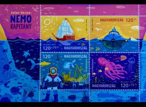 Ungarn Hungary 2019 Block 423 Jules Verne Schriftsteller Kaptain Nemo