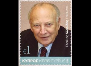 Zypern griechisch Cyprus 2019 Nr. 1407 100. Geburtstag von Glafkoscler