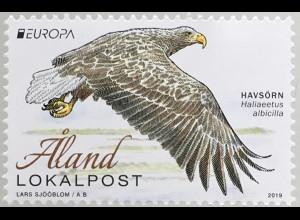 Aland 2019 Nr. 471 Europaausgabe Einheimische Vogelarten Seeadler Ornithologie