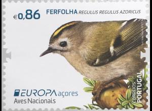 Azoren Acores 2019 Nr. 637-38 Europaausgabe Einheimische Vögel Ferfolha