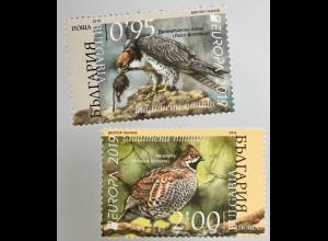 Bulgarien 2019 Neuheit Europaausgabe Einheimische Vogelarten Ornithologie