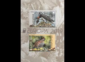 Bulgarien 2019 Nr. 5419-20 Europaausgabe Einheimische Vogelarten Fasan Bussard